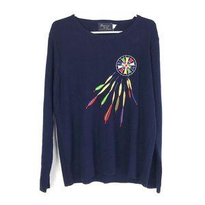 EUC Vintage Dream Catcher Bonnie Lee Sweater